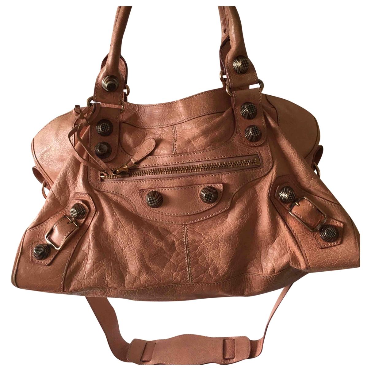 Balenciaga Part Time Pink Leather handbag for Women \N