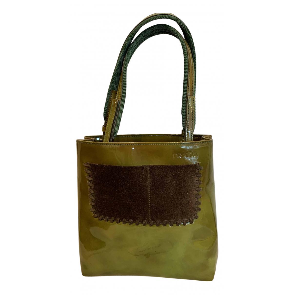 Prada N Green Patent leather handbag for Women N