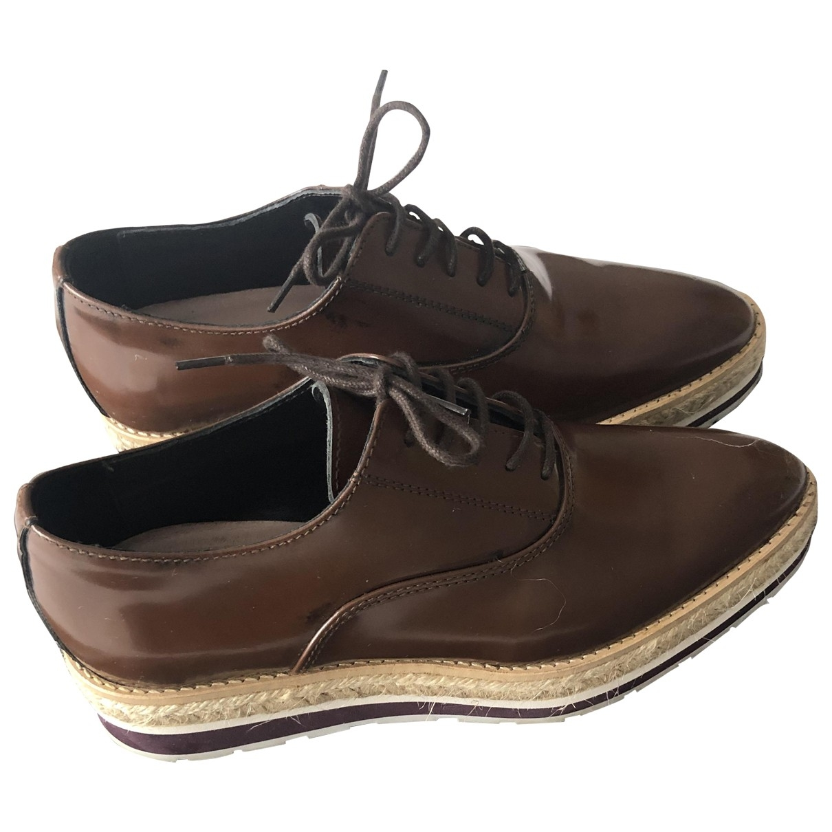 Uterque \N Brown Leather Lace ups for Women 37 EU