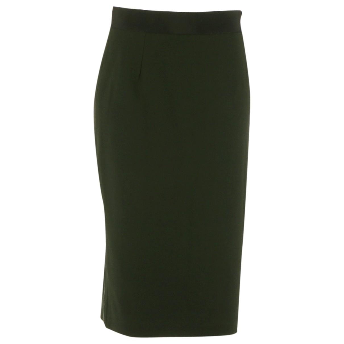 Dolce & Gabbana \N Green Wool skirt for Women 42 FR
