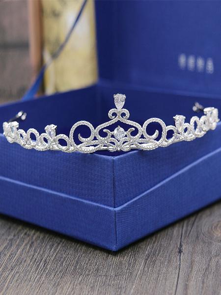 Milanoo Casco de la boda Headwear Corona de accesorios diamante accesorios nupciales del pelo