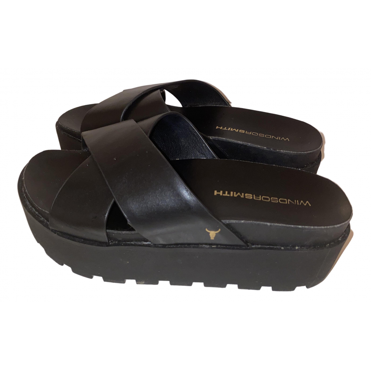 Windsor Smith \N Sandalen in  Schwarz Leder