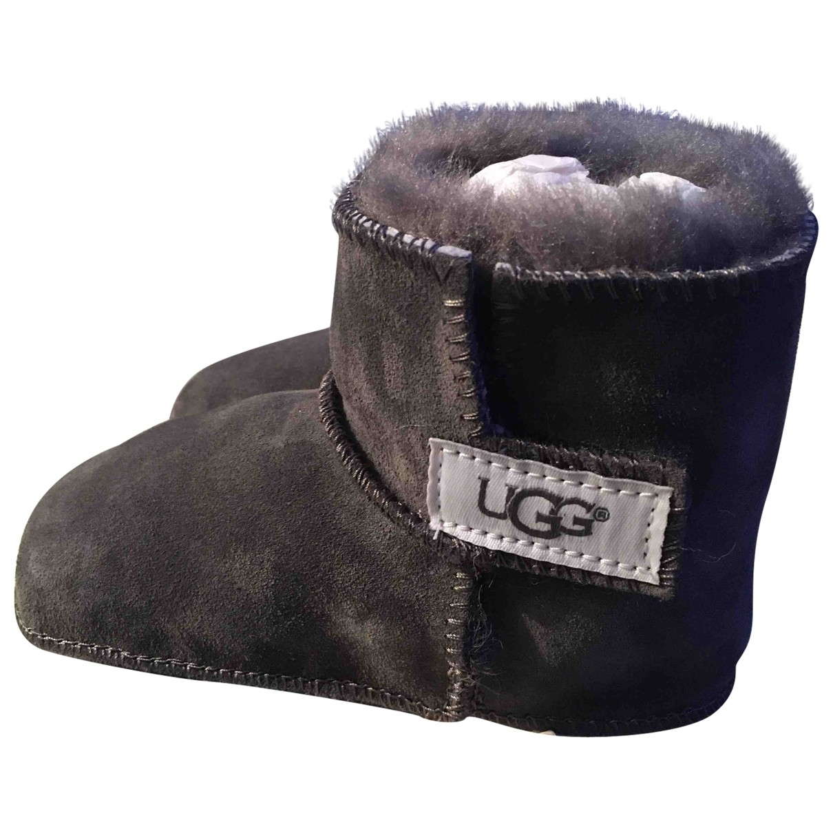 Ugg - Bottes.Bottines   pour enfant en cuir - gris