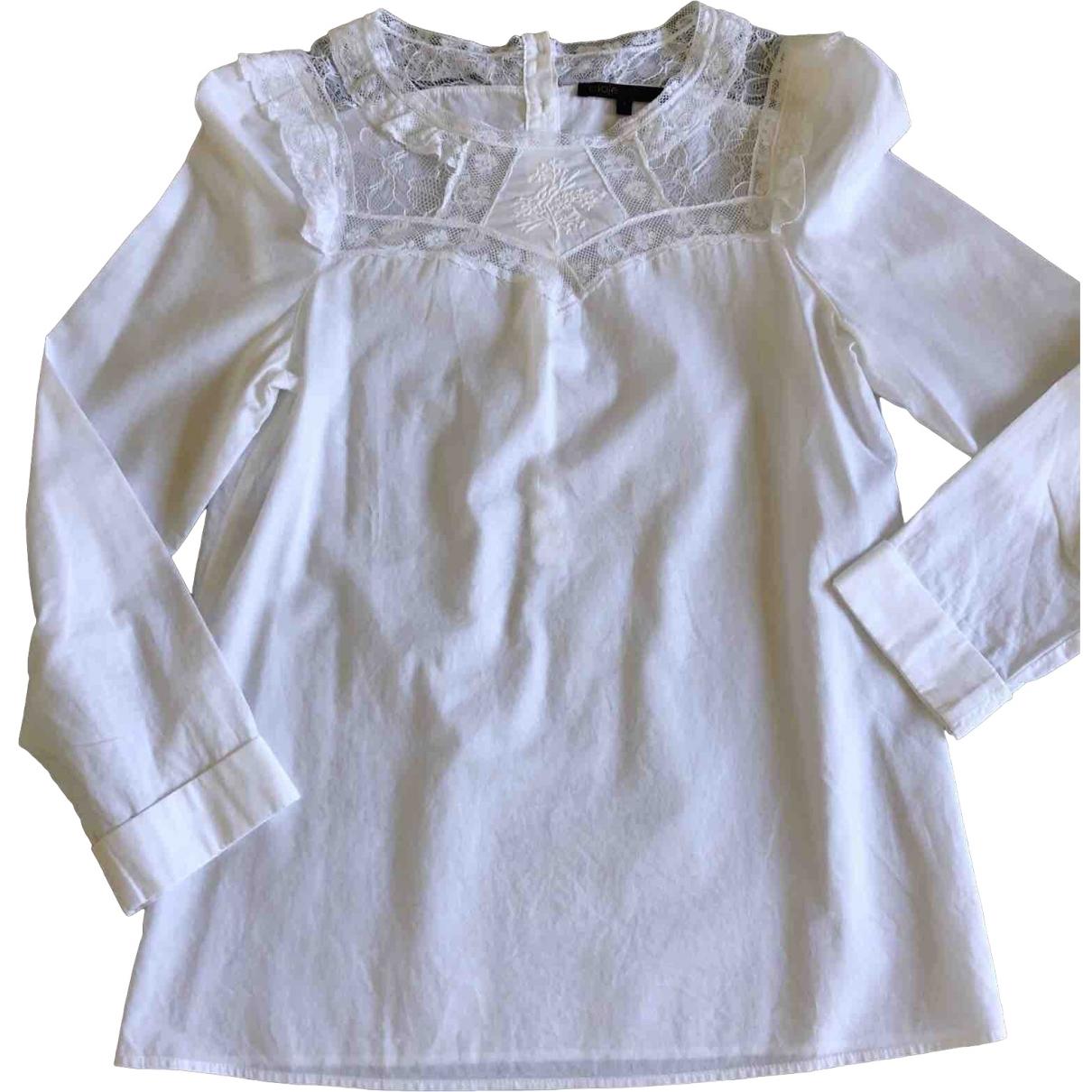 Maje \N White Cotton  top for Women 38 FR