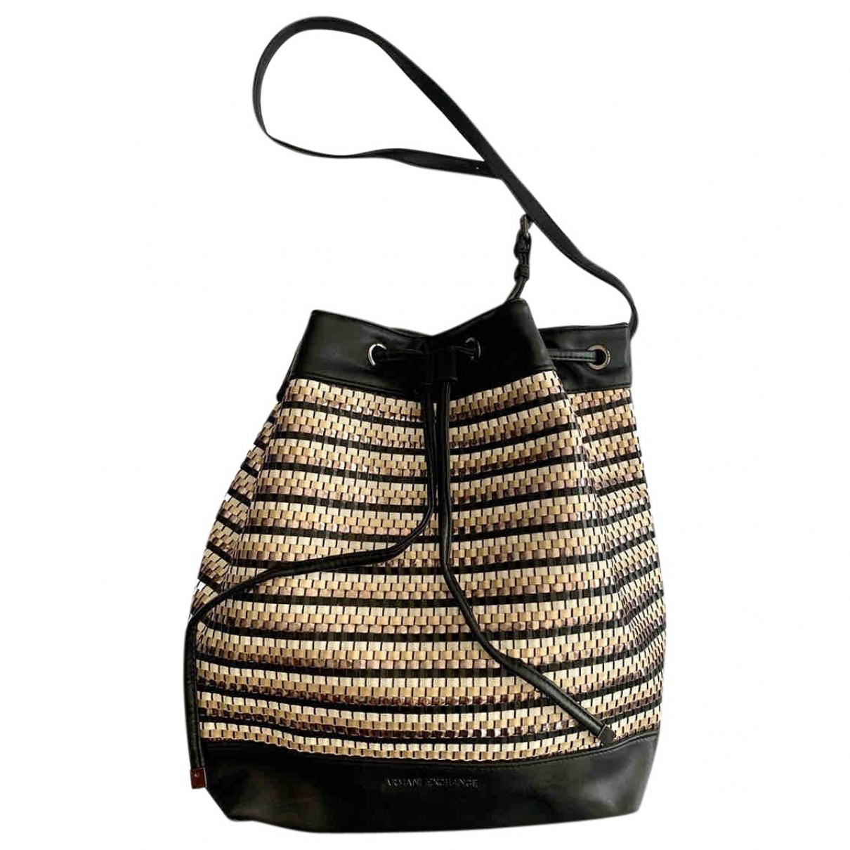 Emporio Armani \N Black Leather handbag for Women \N