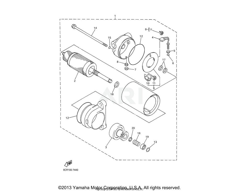 Yamaha OEM 8CW-81832-00-00 CLUTCH, OVER RUN
