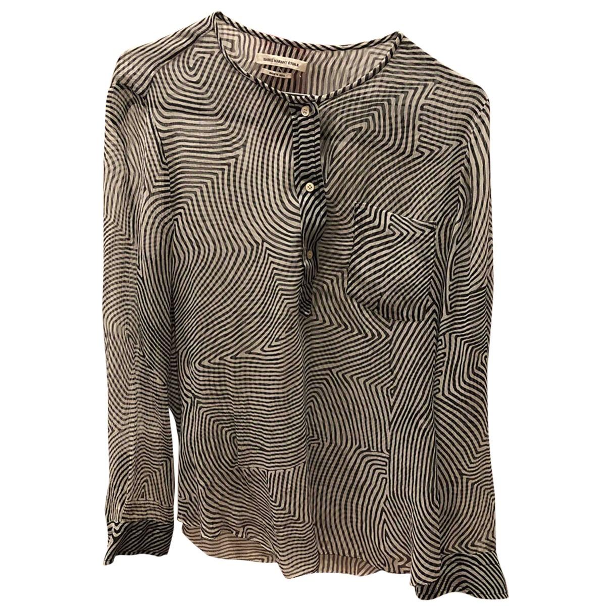 Isabel Marant Etoile - Top   pour femme en soie - blanc
