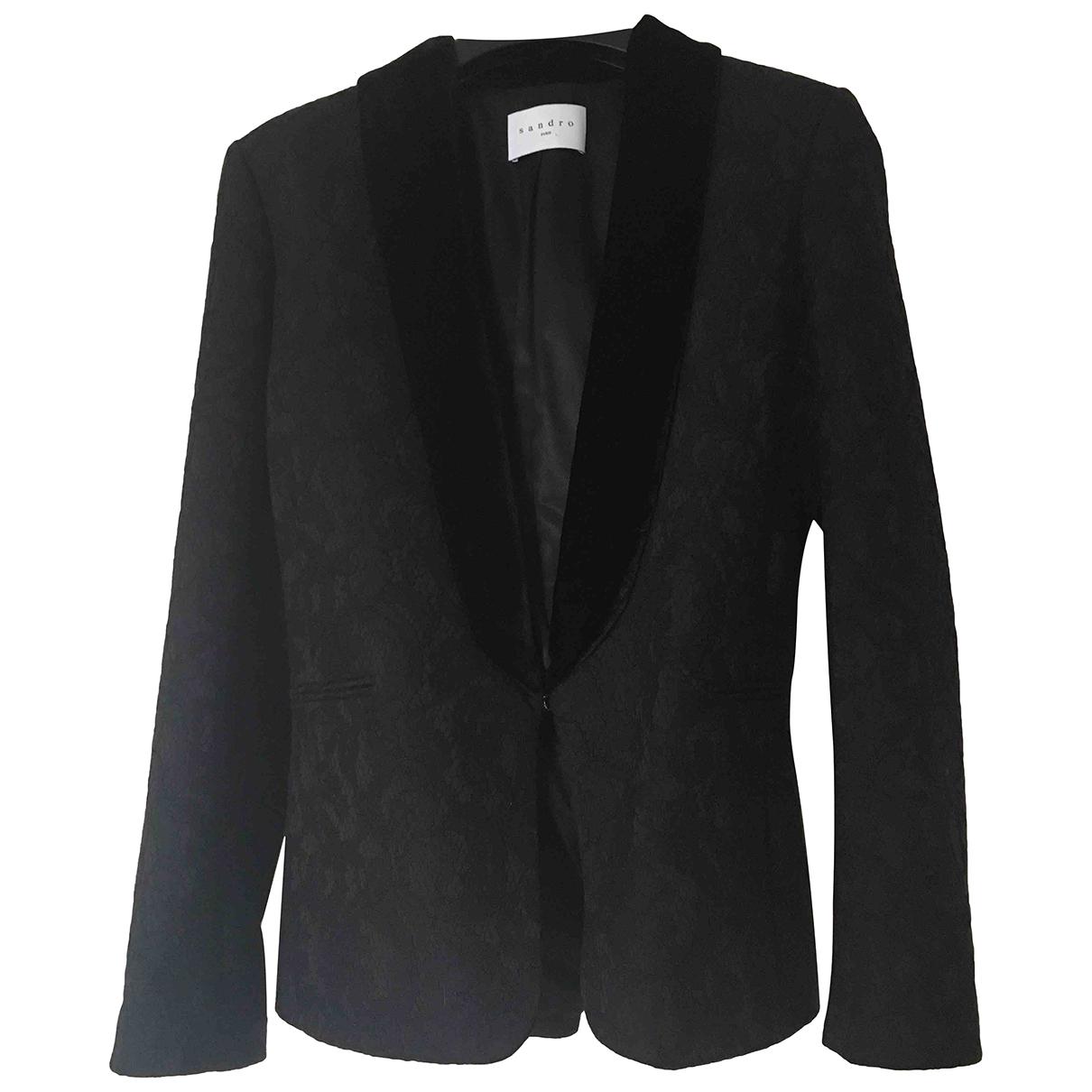 Sandro N Black Velvet jacket for Women S International