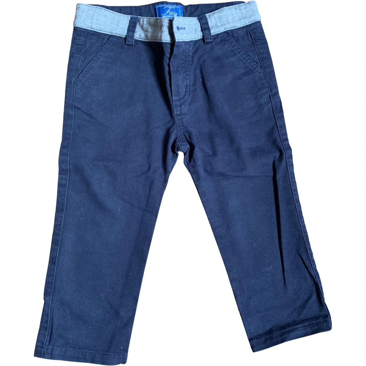 Fay \N Blue Cotton Trousers for Kids 12 months - up to 74cm FR