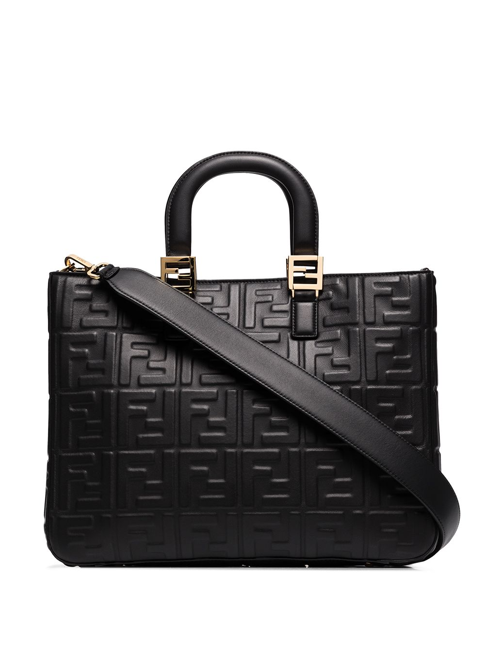 Ff Leather Tote Bag