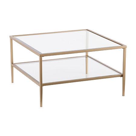Planesra Open-Shelf Coffee Table, One Size , Yellow