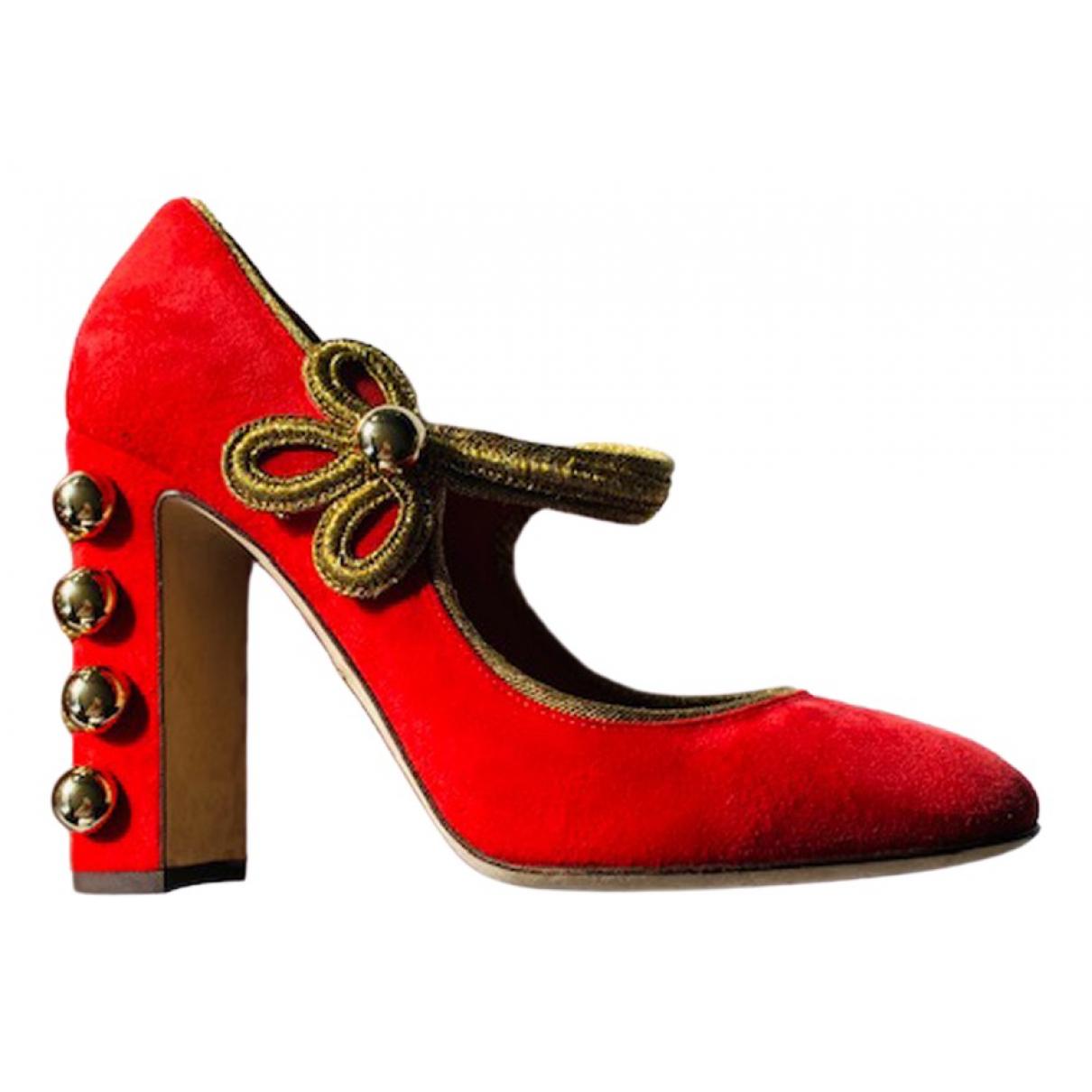 Dolce & Gabbana \N Pumps in  Rot Samt