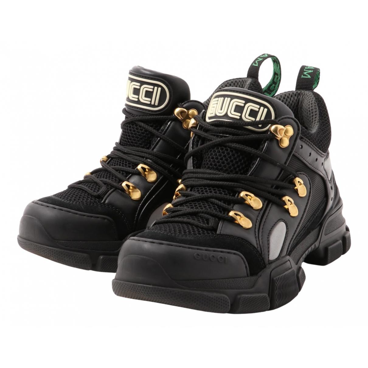 Gucci - Baskets Flashtrek pour femme en cuir - noir