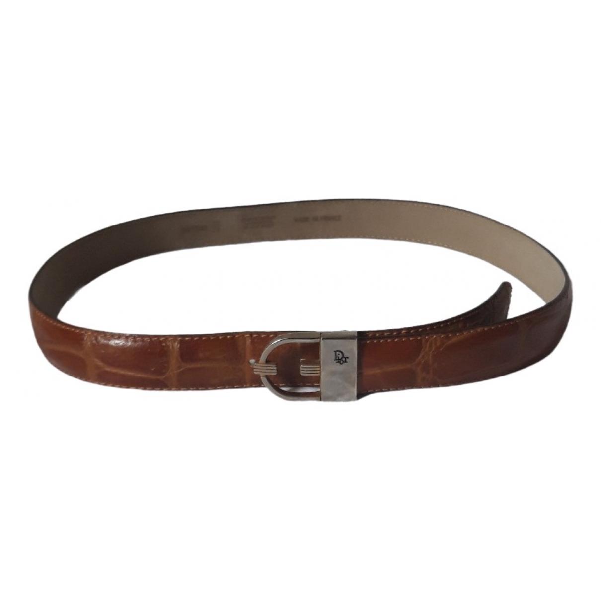Dior \N Camel Leather belt for Men 90 cm