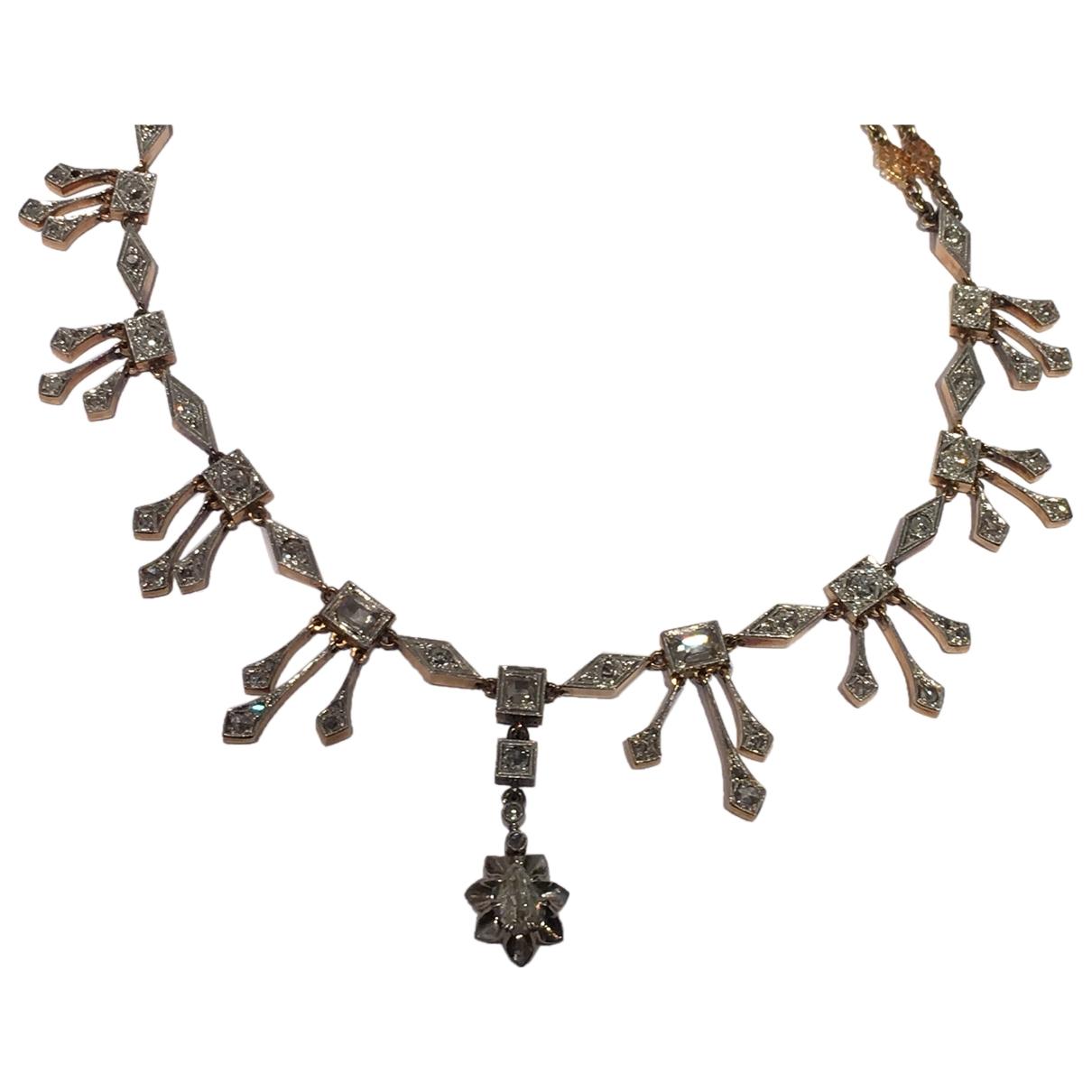 Collar Art Deco de Platino Non Signe / Unsigned