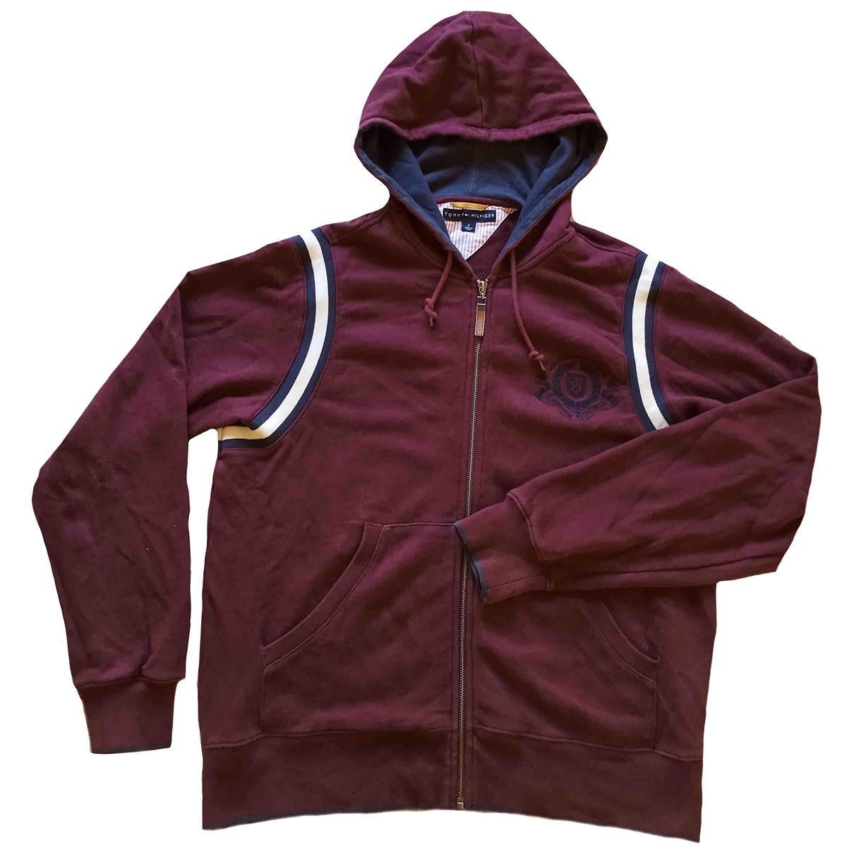 Tommy Hilfiger \N Pullover.Westen.Sweatshirts  in  Bordeauxrot Baumwolle