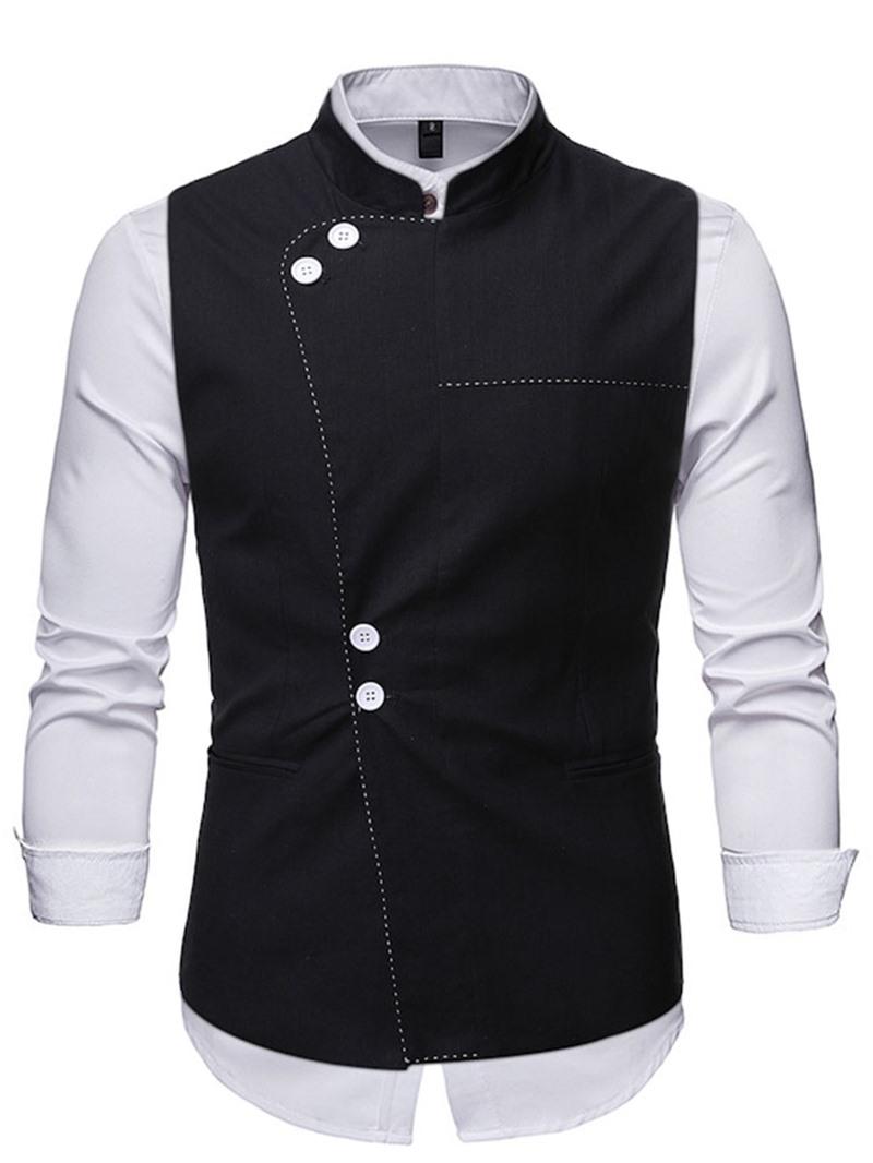 Ericdress Stand Collar Plain Single-Breasted Fall Waistcoat