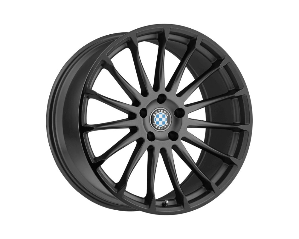 Beyern Aviatic Wheel 17x8 5x120 15mm Matte Gunmetal w/ Gloss Black Lip