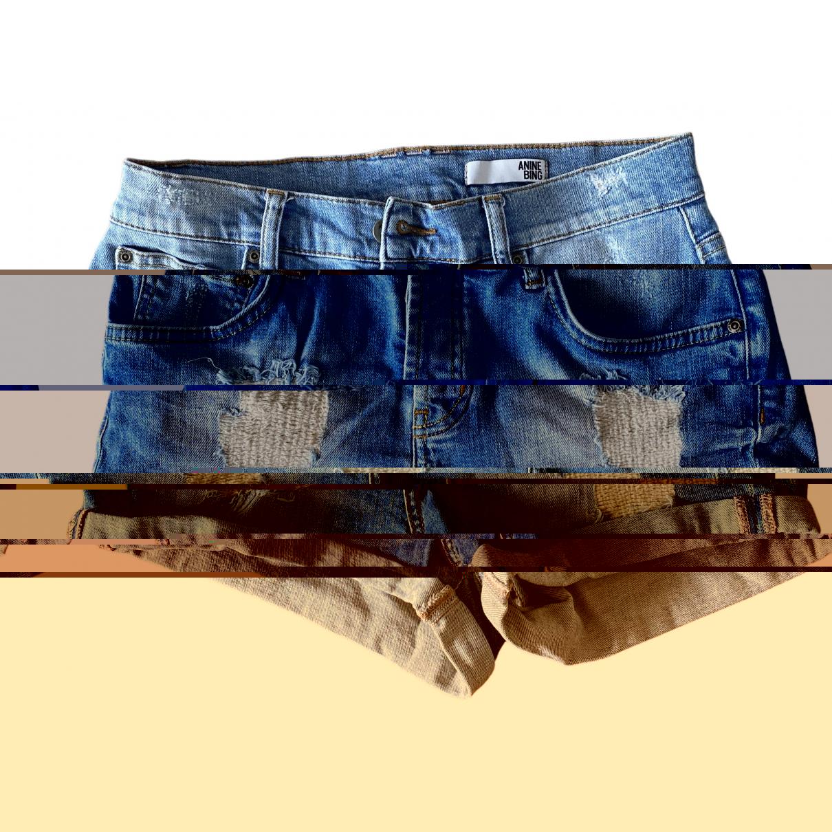 Anine Bing \N Shorts in  Blau Denim - Jeans