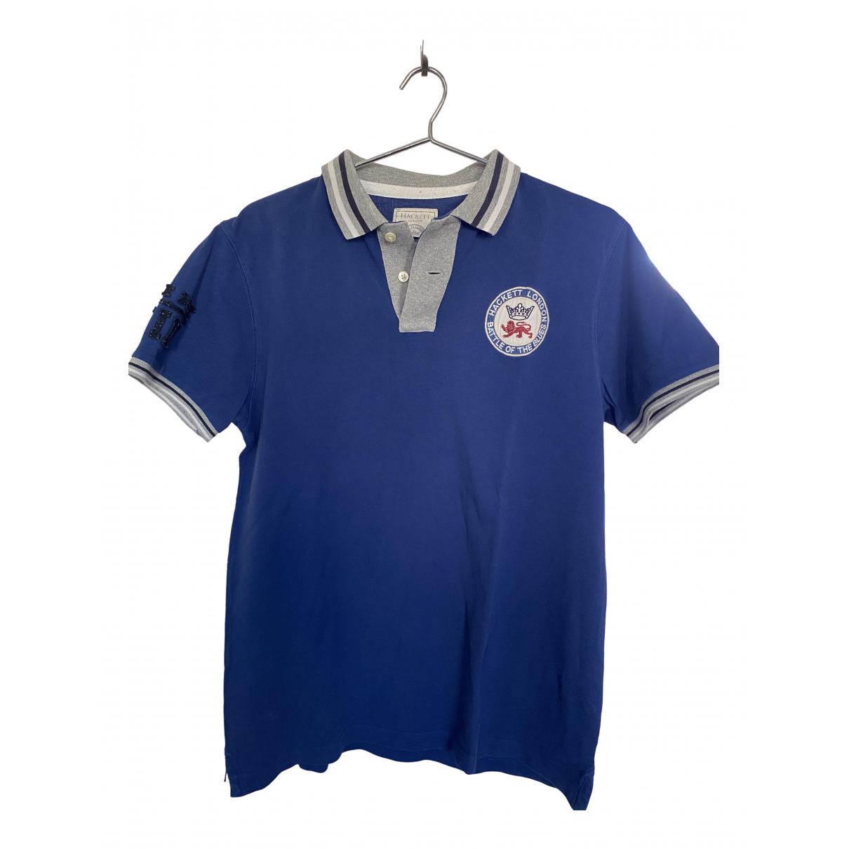 Hackett London - Polos   pour homme en coton - bleu
