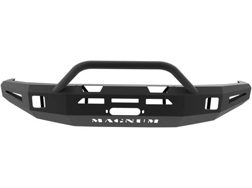 Tundra Front Winch Bumper 14-18 Toyota Tundra Single 3.5inch Square Light Holes Magnum PR Series ICI Innovative Creations FBM55TYN-PR