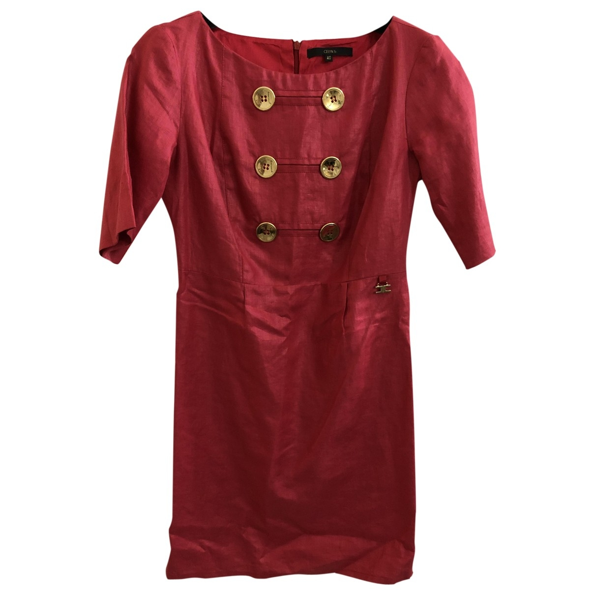 Non Signé / Unsigned \N Pink Linen dress for Women 40 IT