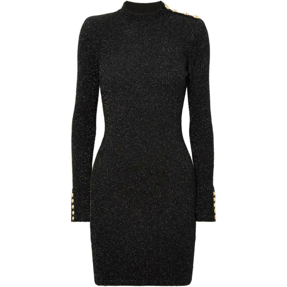 Balmain \N Kleid in  Metallic Baumwolle