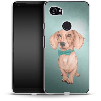 Google Pixel 2 XL Silikon Handyhuelle - Dachshund the Wiener Dog von Barruf