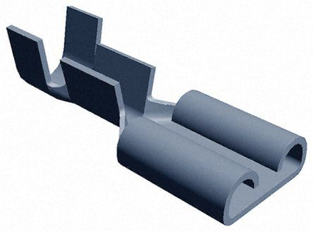 TE Connectivity FASTON .250 Series Crimp Receptacle, 6.35 x 0.81mm, 1mm² to 2.5mm², 17AWG to 13AWG, Tin Plated (100)