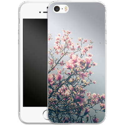Apple iPhone 5s Silikon Handyhuelle - She Bloomed Everywhere She Went von Joy StClaire