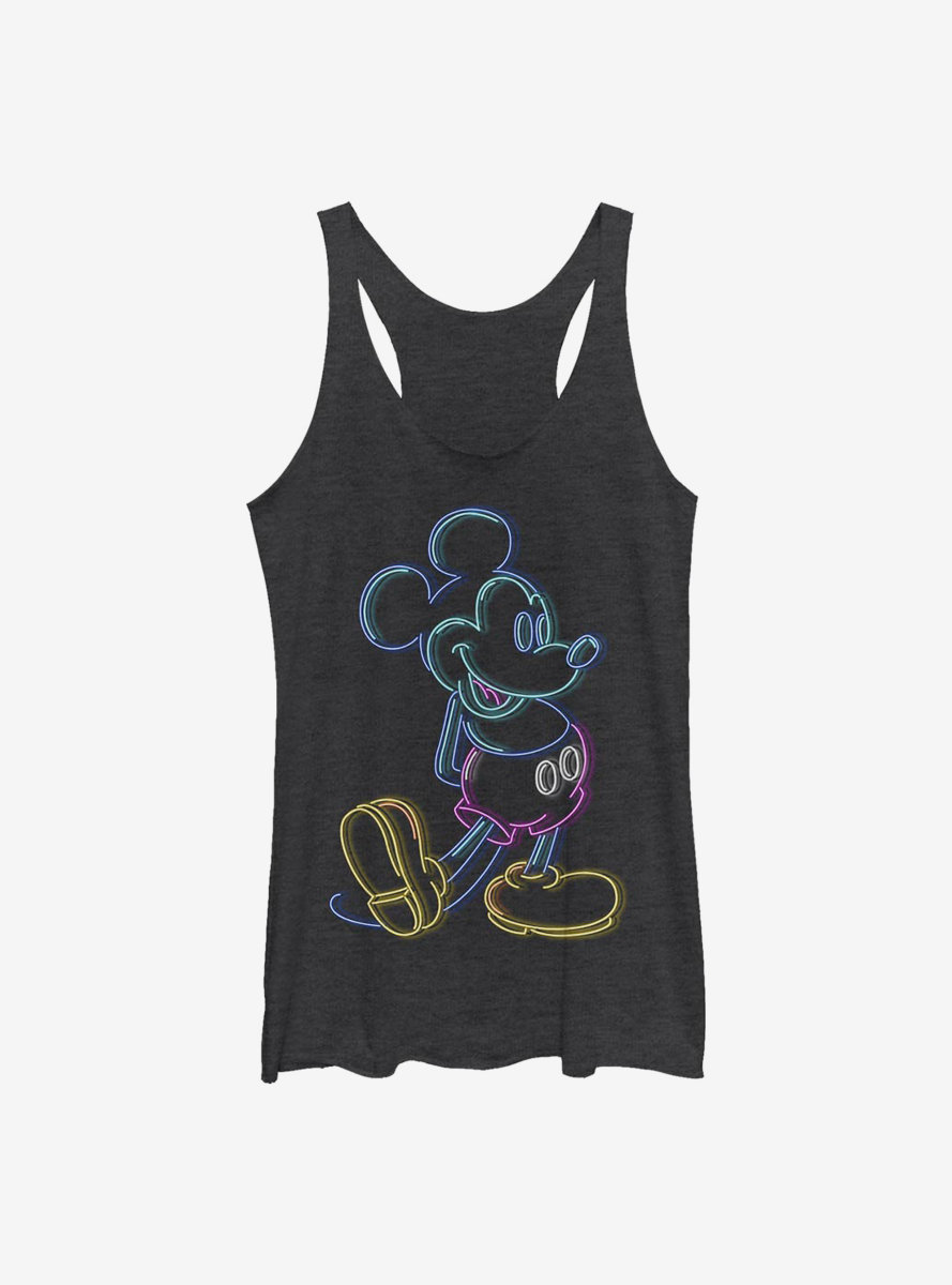 Disney Mickey Mouse Neon Mickey Womens Tank Top
