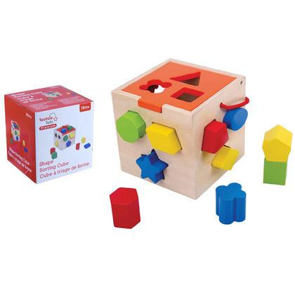 Tooky Toy Cube De Trieur De Formes Bois De Thé En Contreplaqué Boite De Fenêtre 5.51