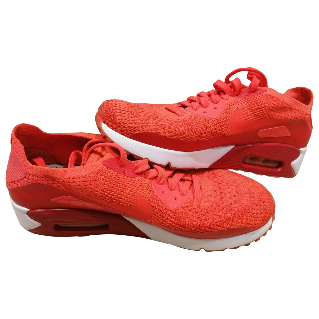 Nike Air Max 90 Sneakers in  Rot Leinen