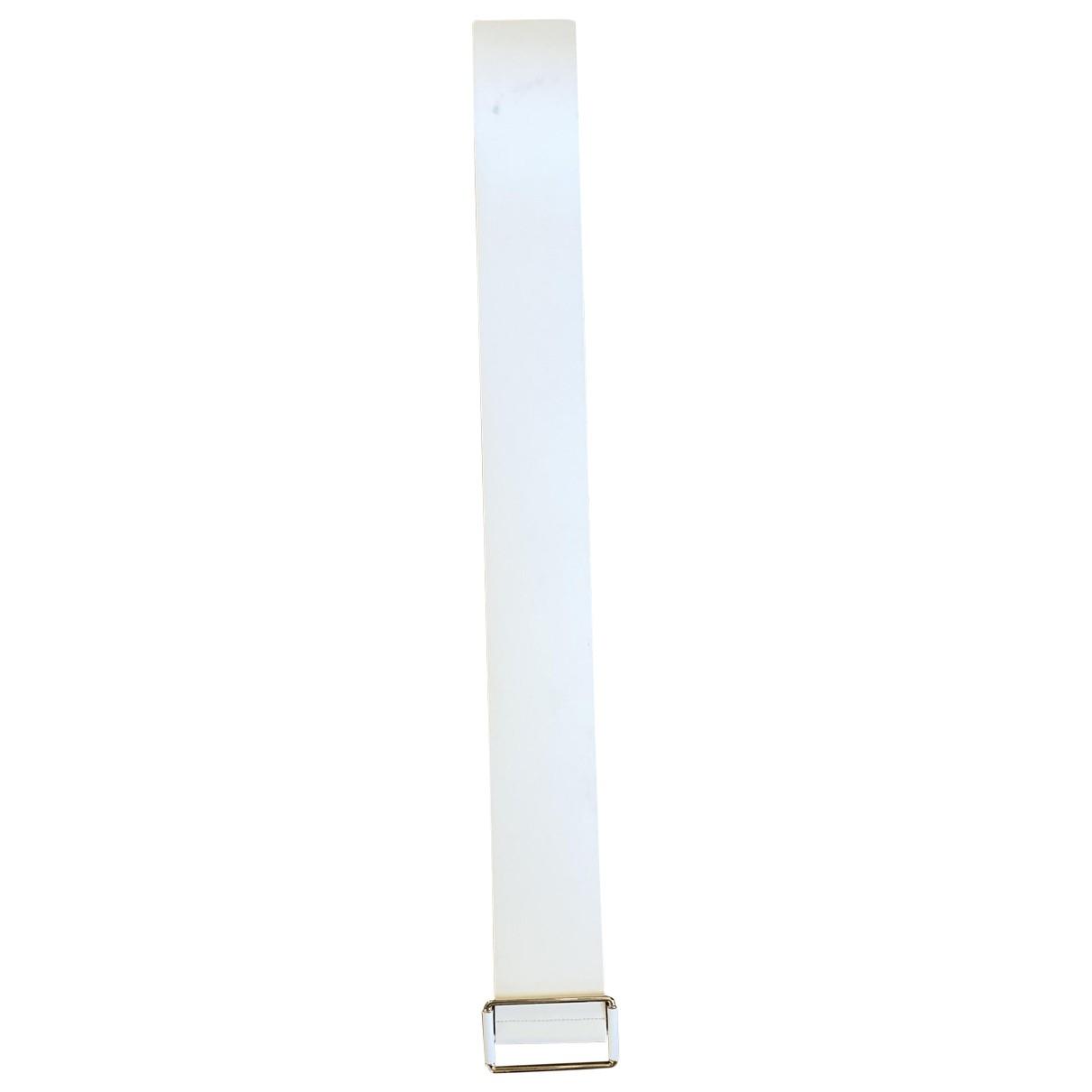 Tara Jarmon \N White Leather belt for Women 70 cm