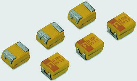 AVX Tantalum Capacitor 100μF 10V dc MnO2 Solid ±10% Tolerance , TPS (5)