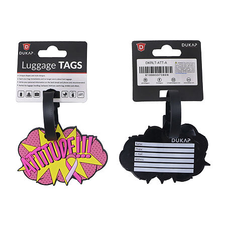 Dukap Accessories 2-pc. Luggage Tag, One Size , Pink