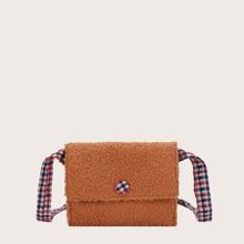 Girls Flap Fluffy Crossbody Bag