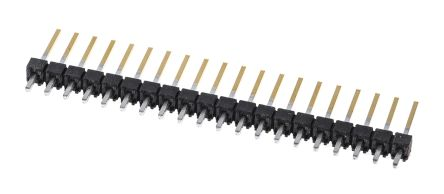 Samtec , TSW, 20 Way, 1 Row, Straight Pin Header