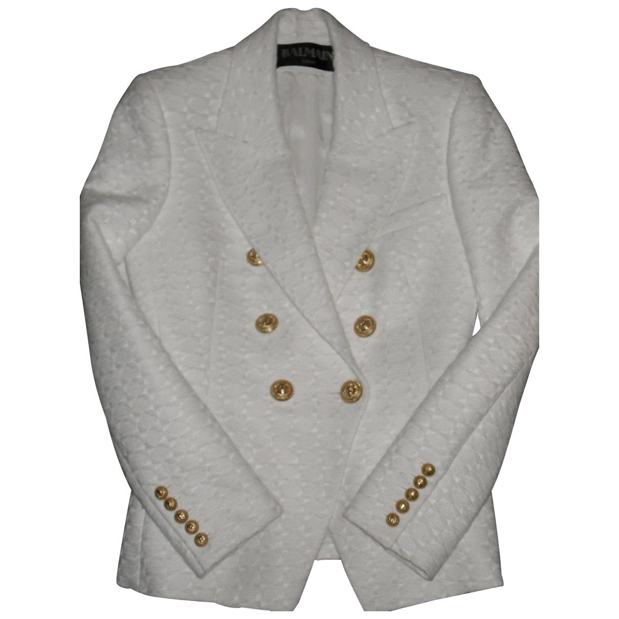 Balmain - Veste   pour femme en laine - blanc