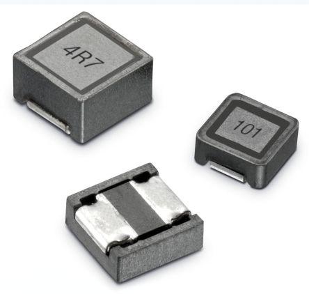 Wurth Elektronik Wurth, WE-LQFS, 4818 Shielded Wire-wound SMD Inductor 2.2 μH ±30% Wire-Wound 3.36A Idc (1000)