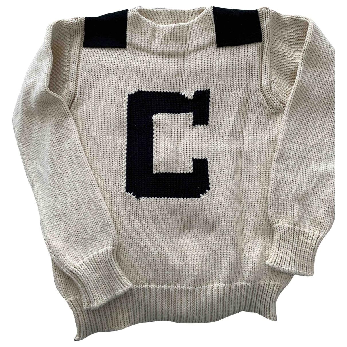 Chloe - Pull   pour femme en coton - blanc