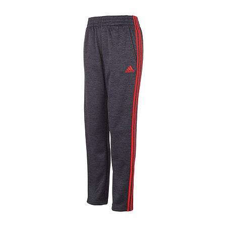 adidas Big Boys Mid Rise Straight Jogger Pant, Large (14-16) , Black