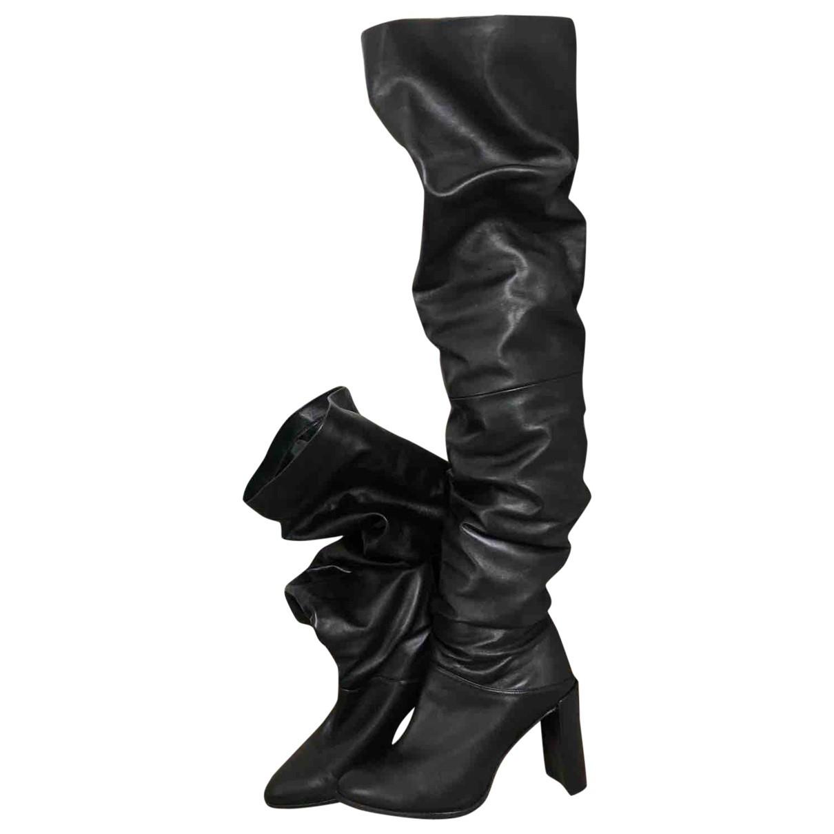 Stuart Weitzman \N Black Leather Boots for Women 36 IT
