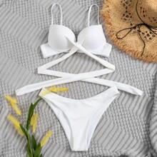 Bañador bikini cruzado