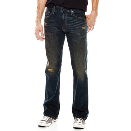 Arizona Flex Original Bootcut Destruction Jeans, 33 36, Blue