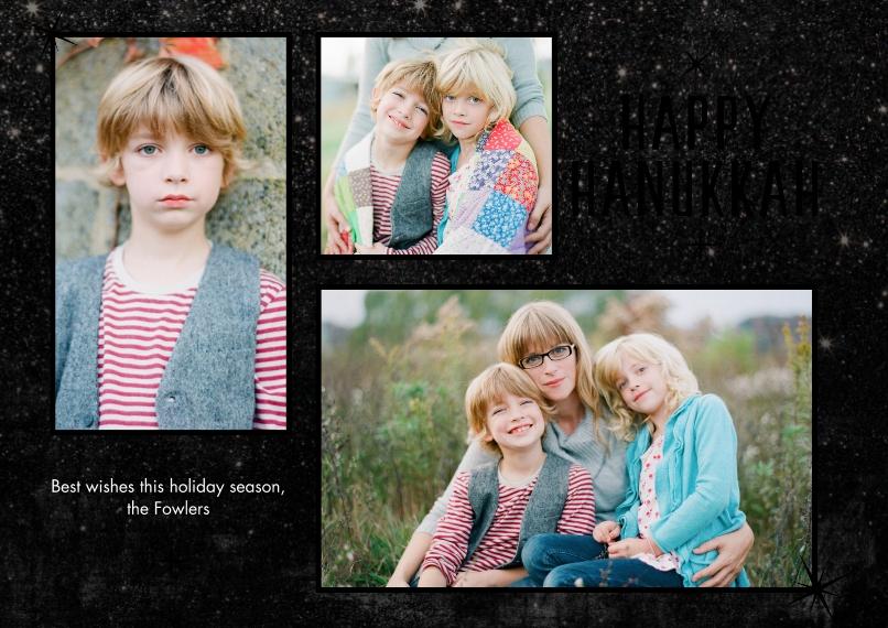 Christmas Photo Cards Set of 20, Premium 5x7 Foil Card, Card & Stationery -Happy Hanukkah