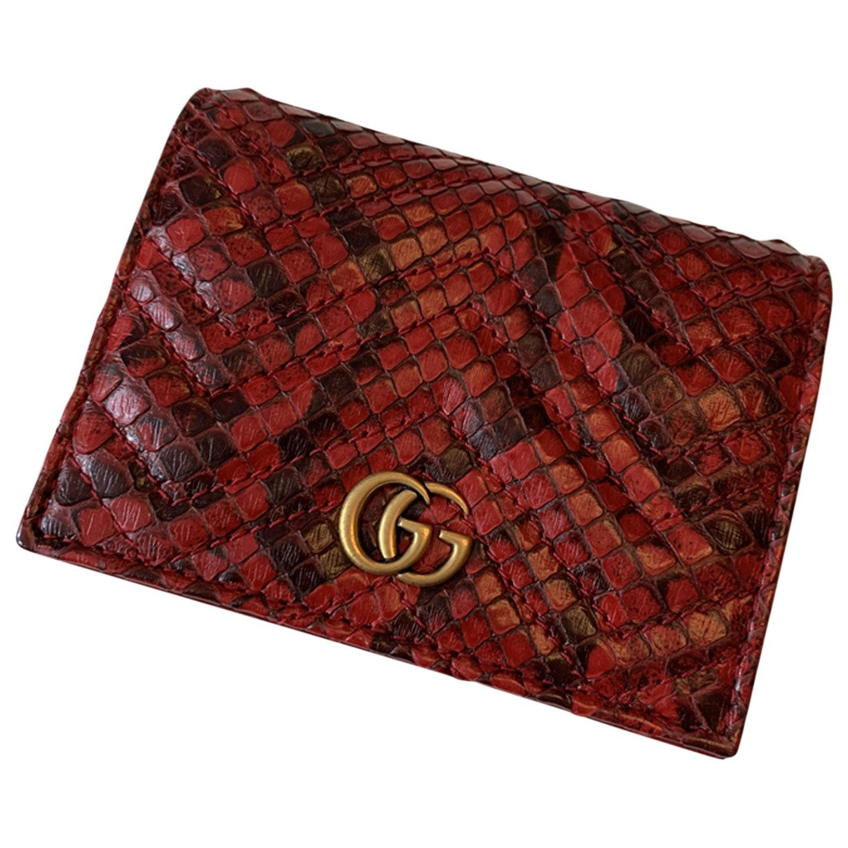 Gucci Marmont Portemonnaie in  Rot Python