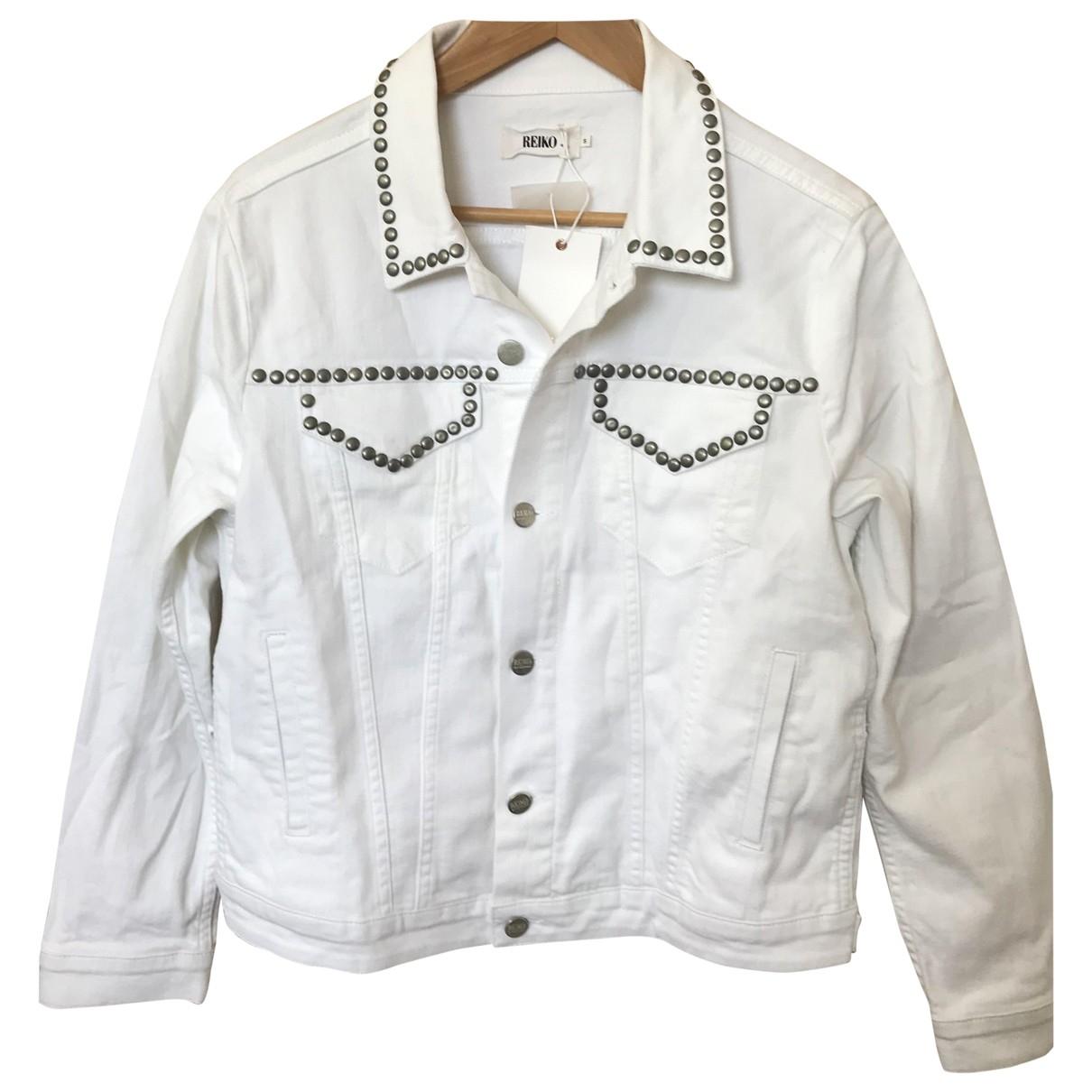 Reiko - Veste   pour femme en coton - blanc