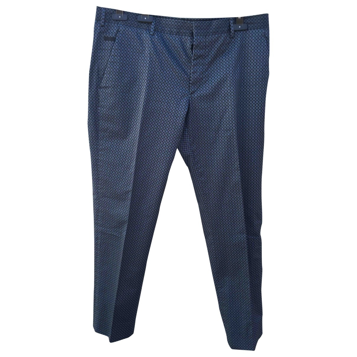 Prada \N Blue Cotton Trousers for Men 52 IT