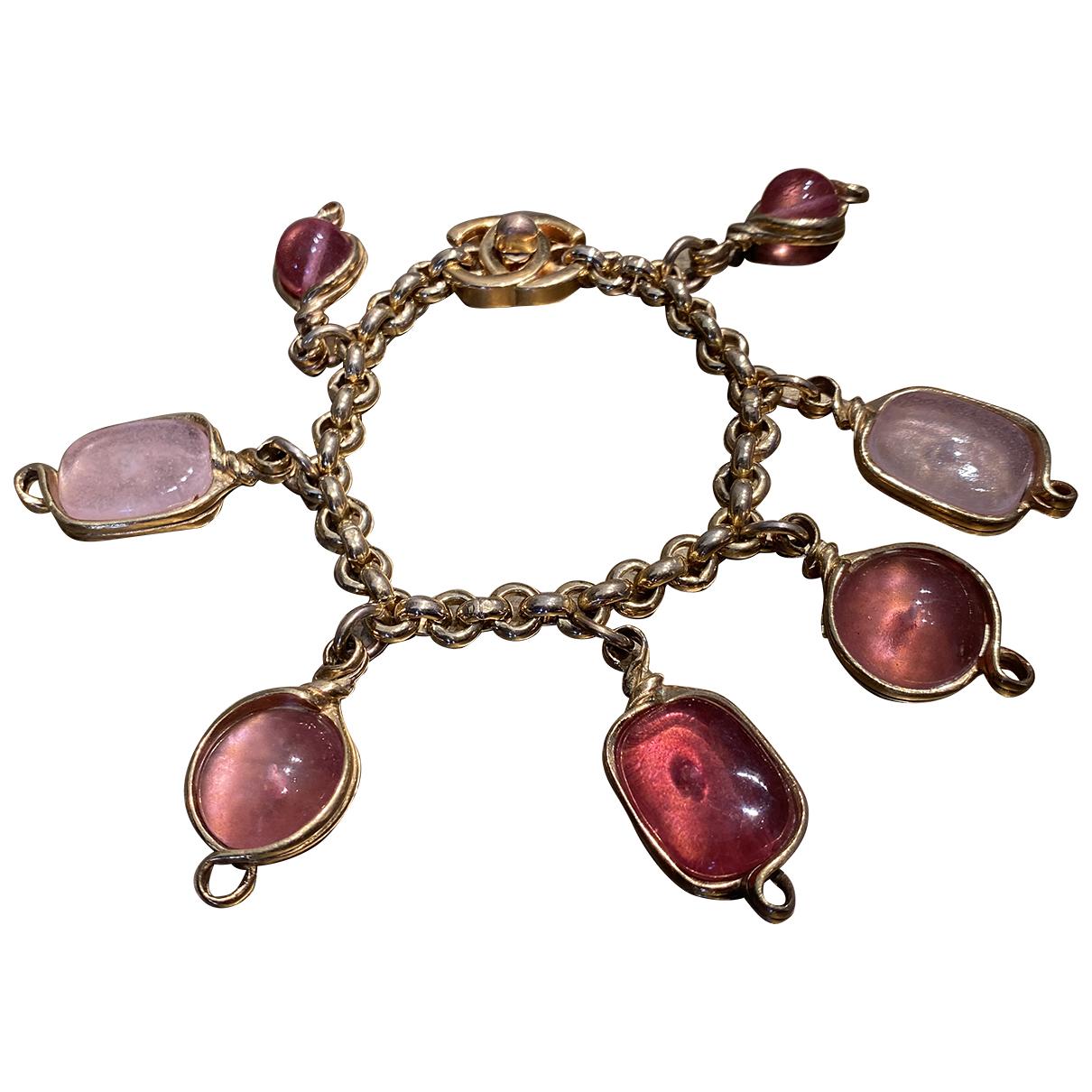 Chanel - Bracelet Baroque pour femme en metal - rose